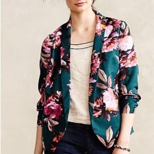 Anthropologie Cartonnier Floral Blazer Size 6